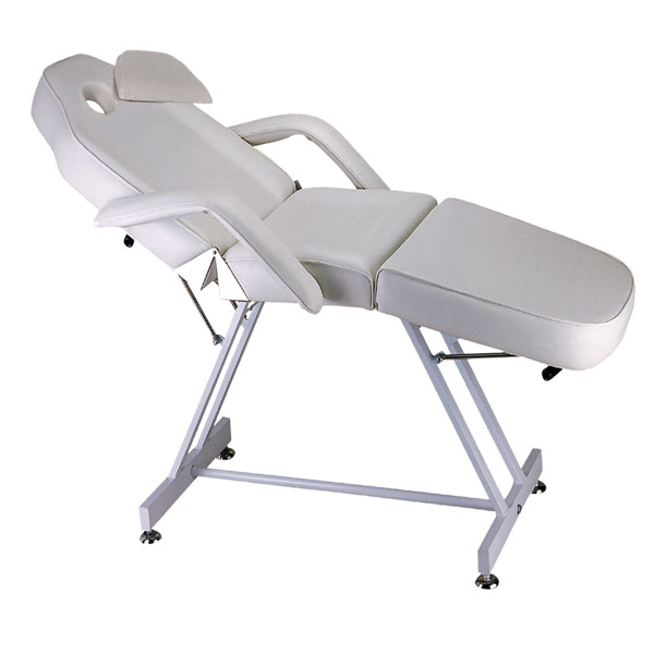 Facial-massage bed reclinable